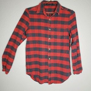 Brandy Melville Womens Shirt One Size OS Red Plaid